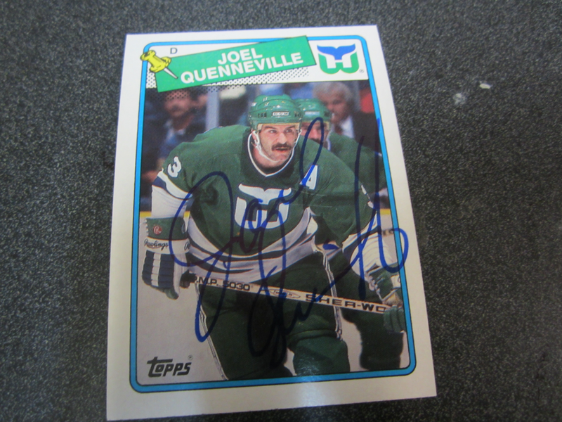 464afe156 Hartford Whalers Joel Quenneville signed 88 89 Topps Hockey card ...