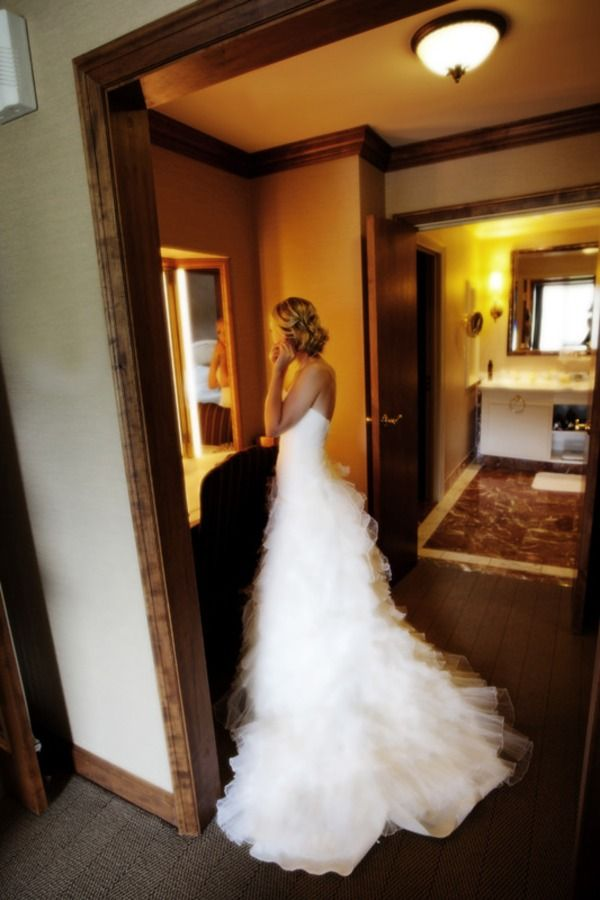 Style Me Pretty. Fairmont Chateau Whistler Wedding by Gadbois Photography - Love this dress. *