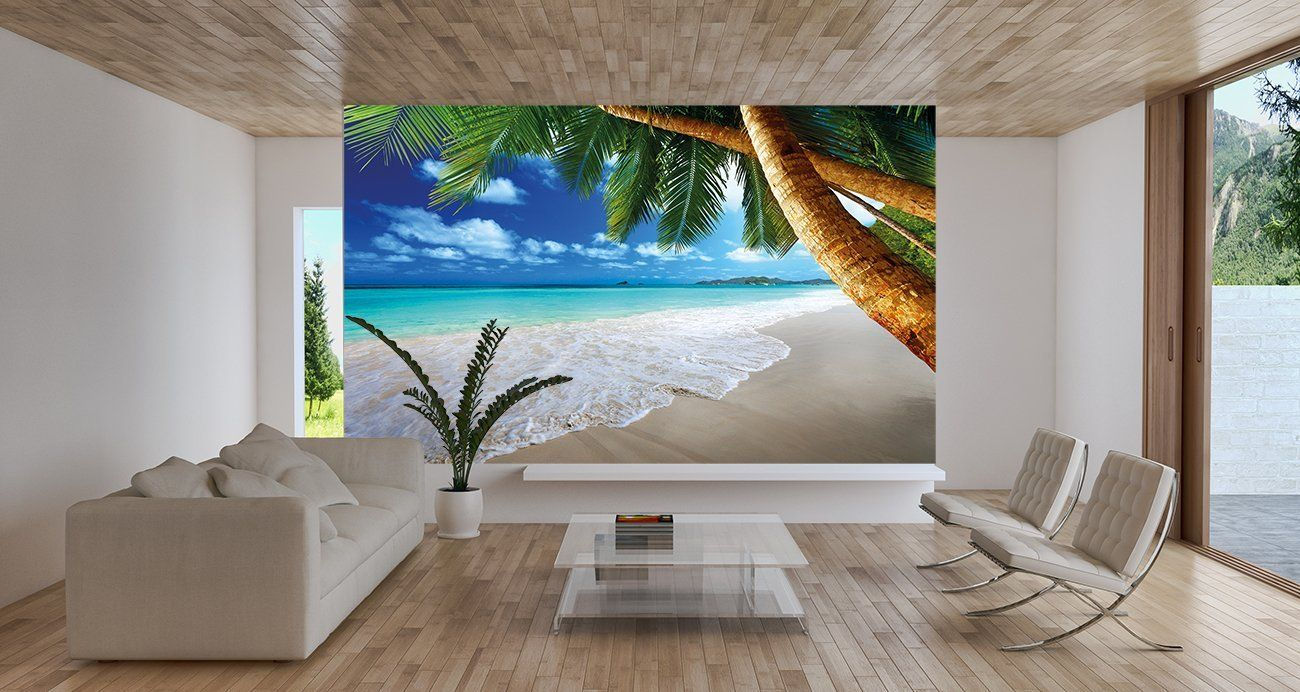 Wall Mural Ideas For Living Room Living Room Wall Mural Ideas Beach With Palm Tree Dream House