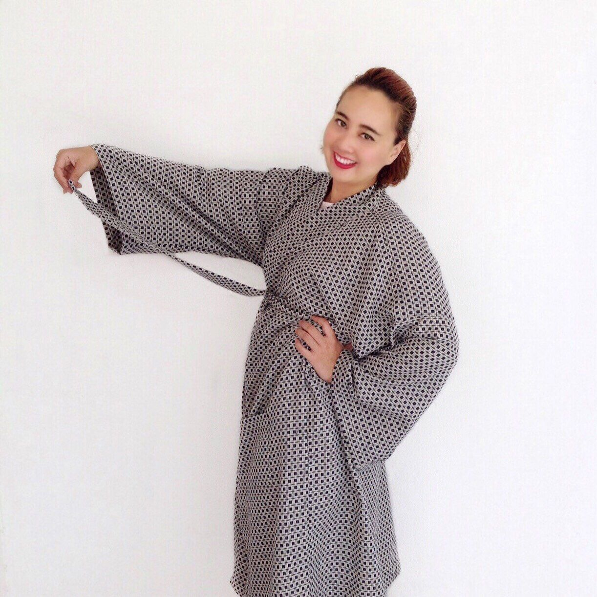 0bbc1f754e Organic 100 percent natural cotton handmade kimono style bathrobes ...