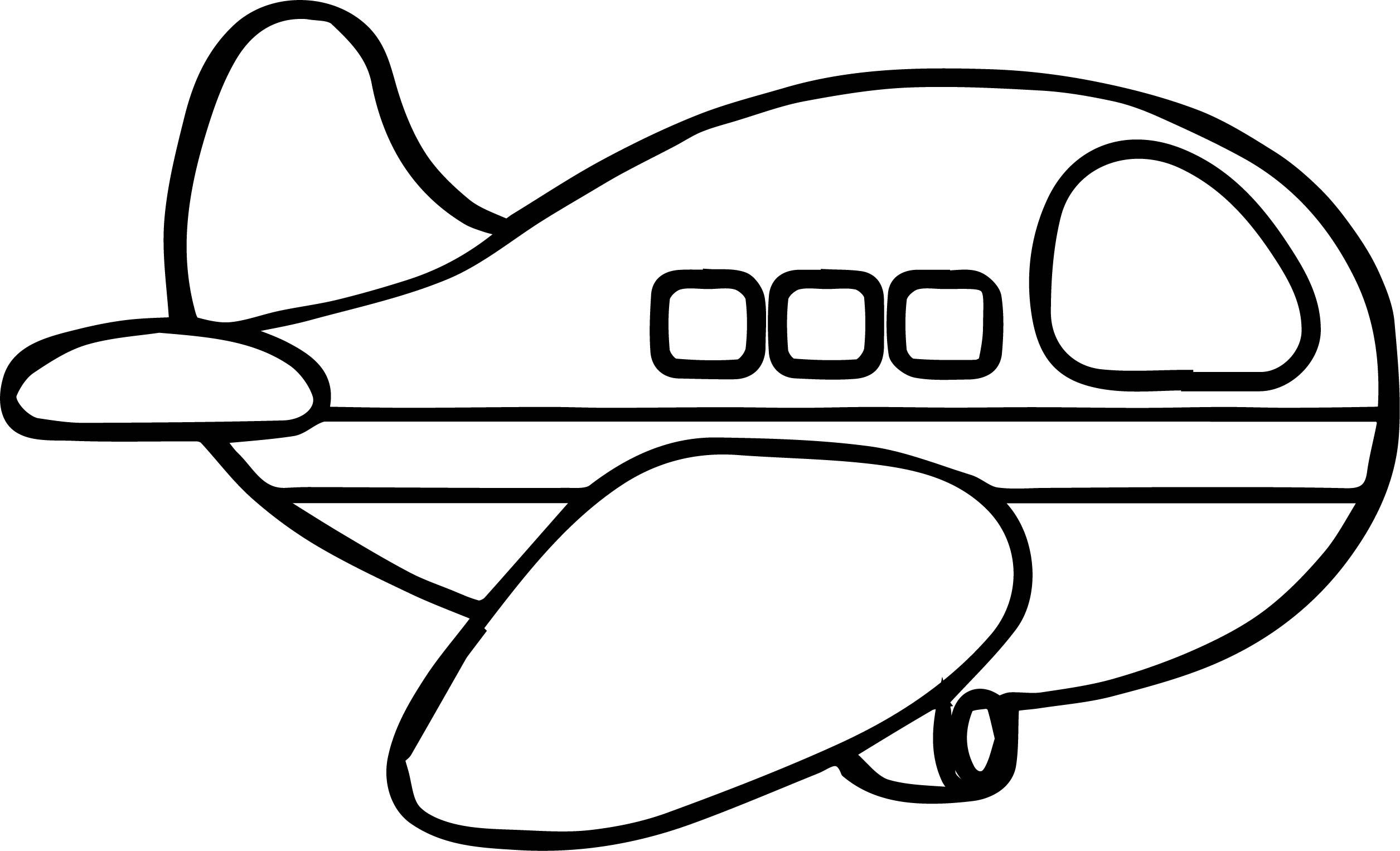 Awesome Airplane Basic Coloring Page Coloring Pages Color Basic