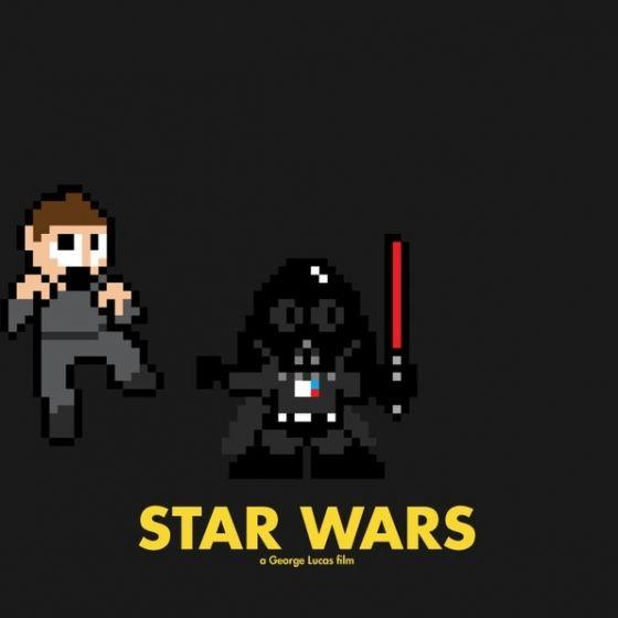8-Bit Filmposter - Star Wars