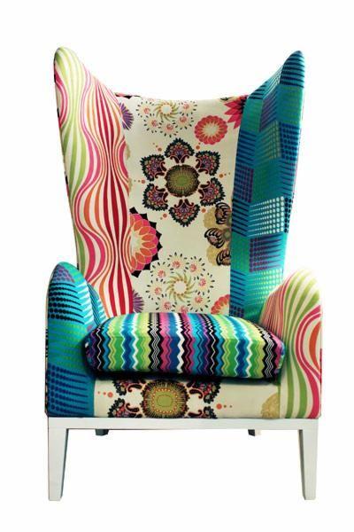 Fotel Patchwork Fotele Artykuły Dekoracyjne Do Domu