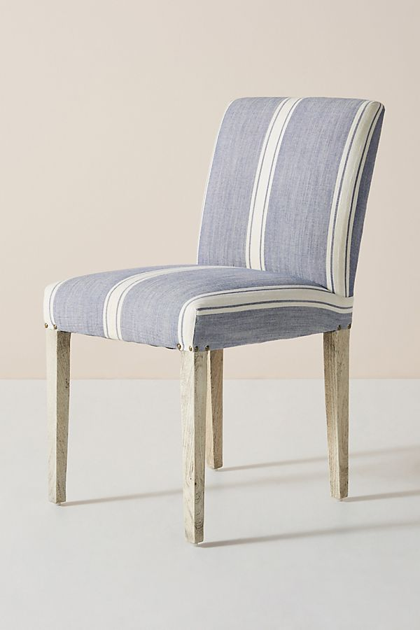 Seneca Stripe Dining Chair By Anthropologie In Grey Size