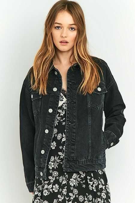 594d10750 BDG Oversized Black Denim Jacket   Denim jackets in 2019   Oversized ...