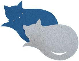 Kitty-alusta, Think Today käyttää tuotteissaan teollisuuden ylijäämä materiaalia. Kitty-alustat on tehty muovimatosta.