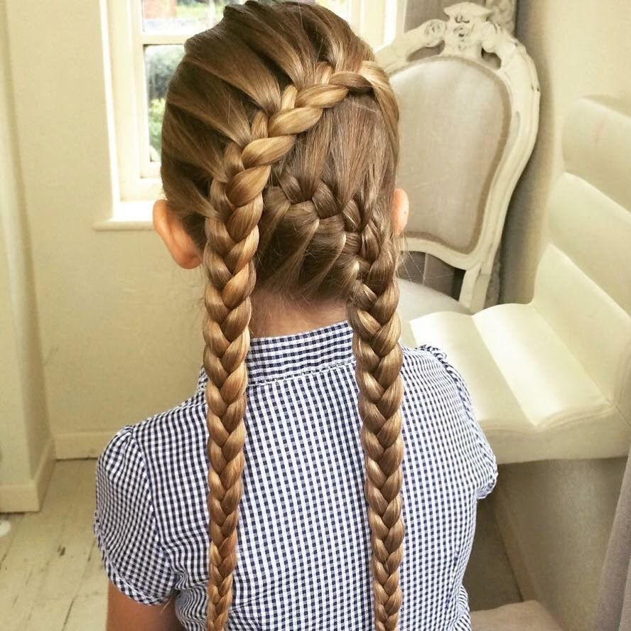 crossover lace braid sweethearts