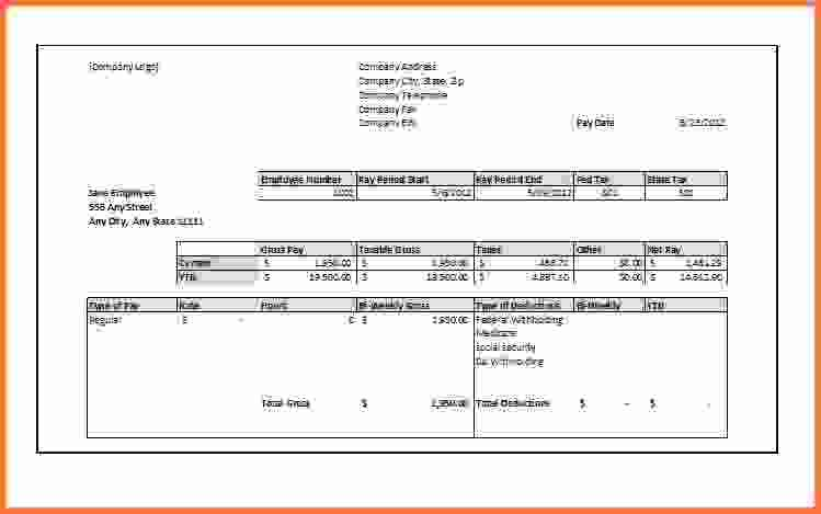 Free Paycheck Stub Templatepay Stub Template 10jpg Simple Pay Stub