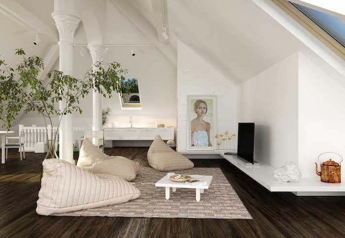 Wohnideen Dachwohnung dachwohnung liebevoll einrichten kunst künstler wohnung wandbild