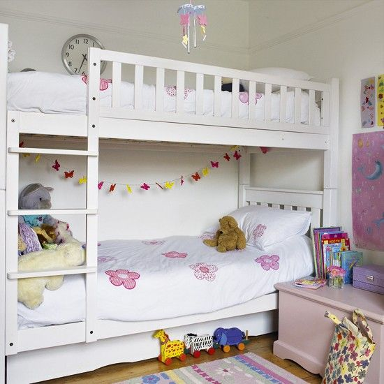 Girl's bedroom with bunk bed | Children's bedrooms | Bunk beds |  housetohome.co.