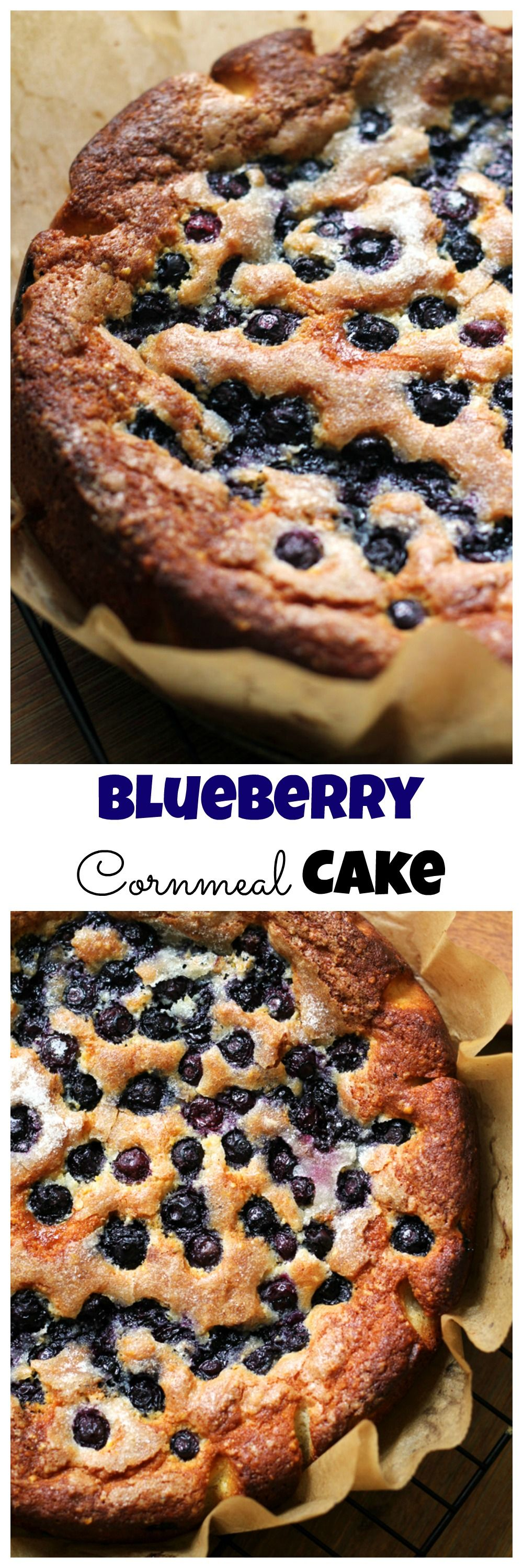 Simple, but delicious, this blueberry cornmeal cake is a celebration of juicy summer berries.