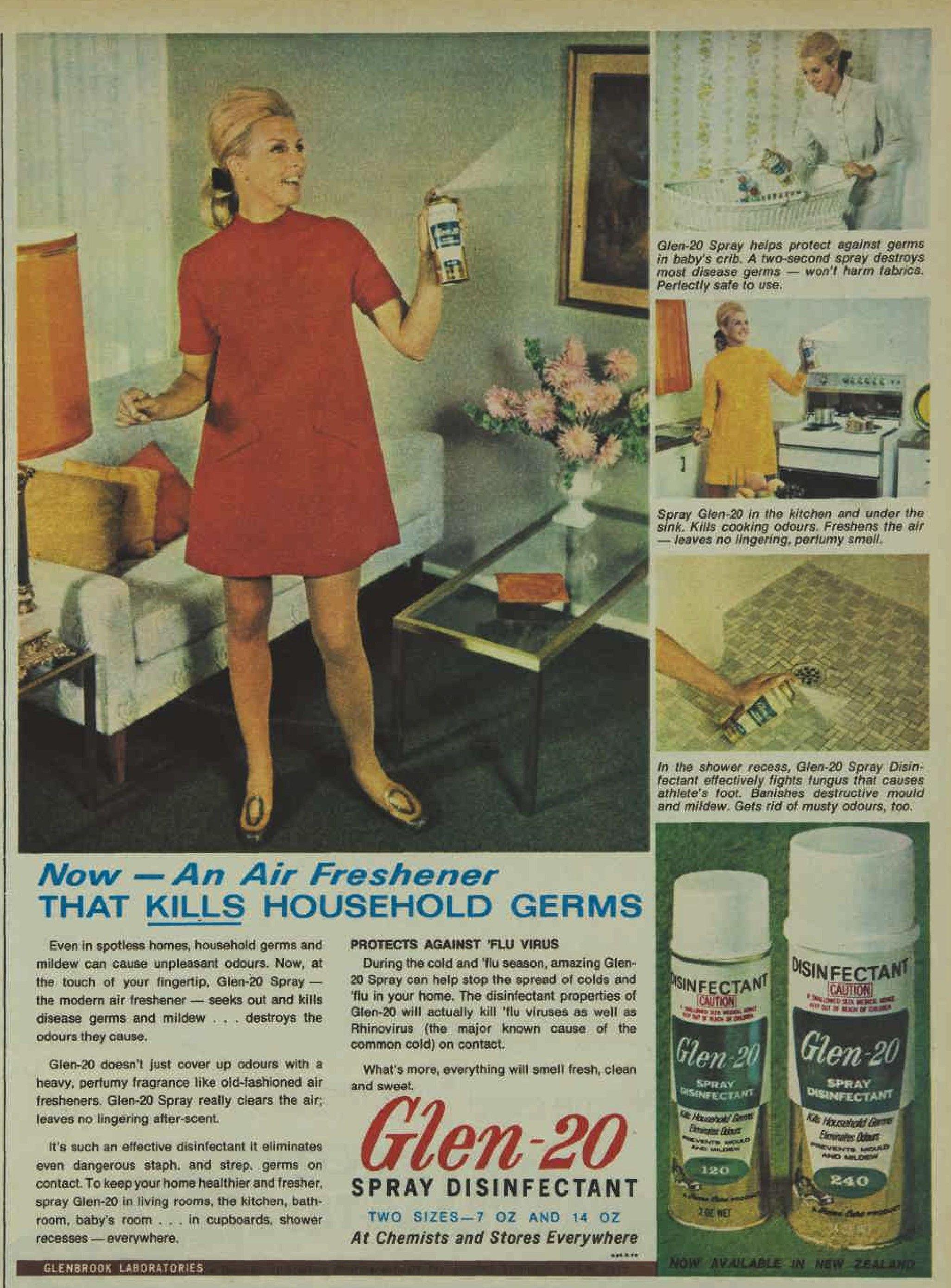 Glen20 Spray Disinfectant Magazine Advertisement Ad