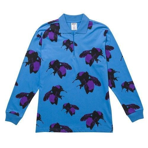 569bc9912d62 Golf Wang Bee Longsleeve Polo Shirt (Blue) Brand New With Tags  fashion   clothing  shoes  accessories  mensclothing  shirts (ebay link)