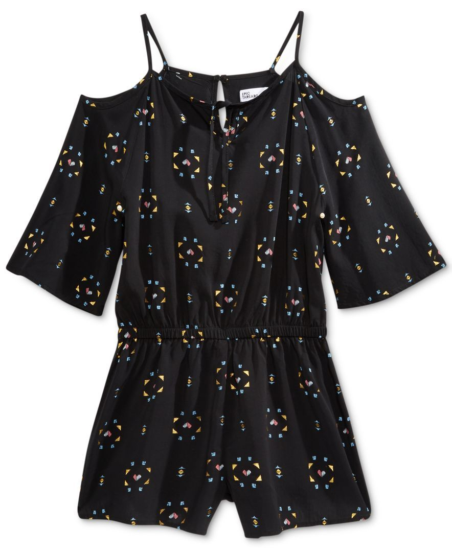 Epic Threads Printed Off-The-Shoulder Romper, Big Girls (7-16), Only at Macy's