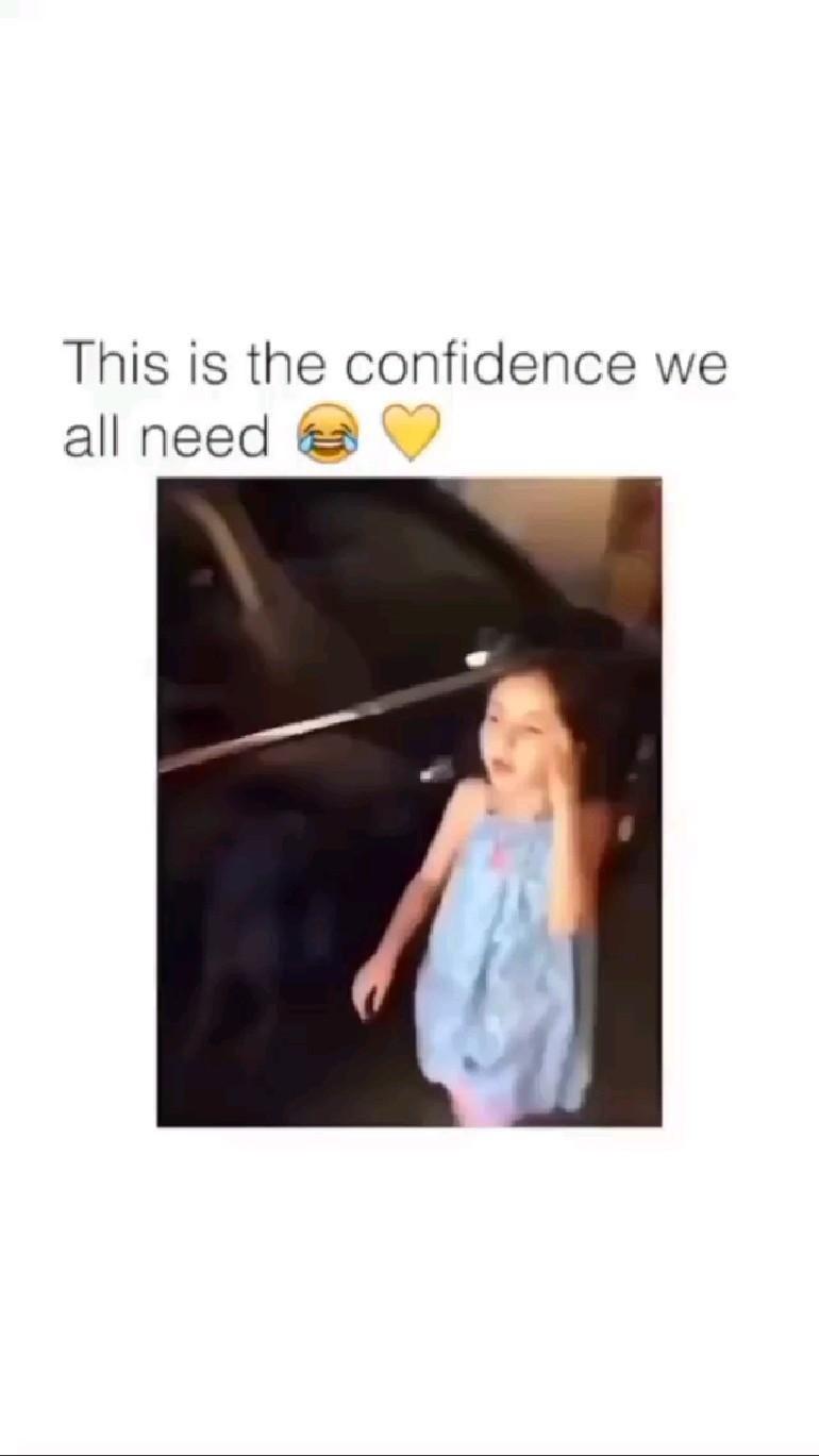 be confident...