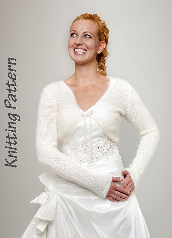Knitting Pattern angora cardigan with ribbon for the bridal dress or ...