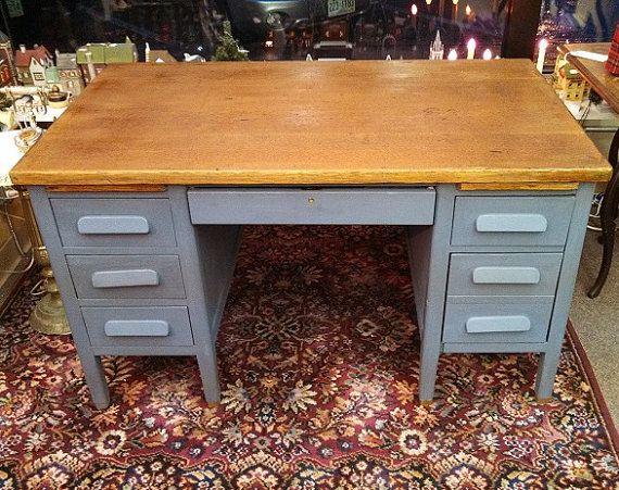 MyVintageChicCottage - Vintage Chic Antique's & Furniture - on Etsy · Teacher  DesksTeacher ... - Wooden Desk Ah Apt. Pinterest Desks, Room And Desk Makeover