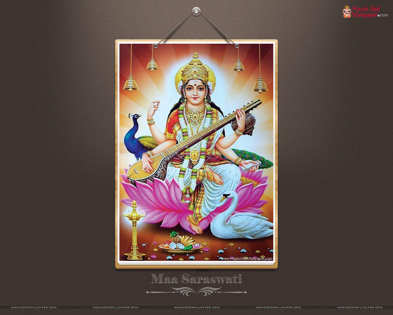 Maa Saraswati Hd Wallpapers Full Size Download Desktop Wallpaper Art Maa Wallpaper Art Wallpaper
