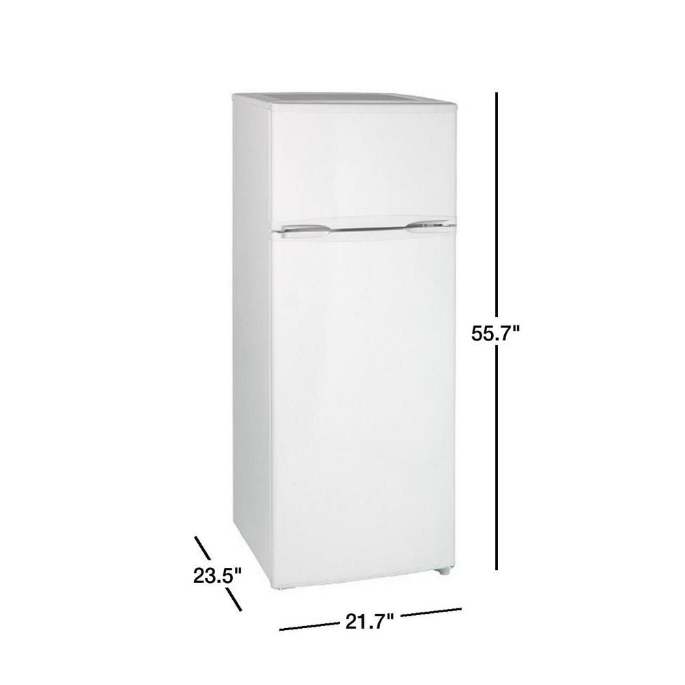 7 4 Cu Ft Apartment Size Top Freezer Refrigerator In White Ra7306wt Top Freezer Refrigerator Refrigerator Living Decor