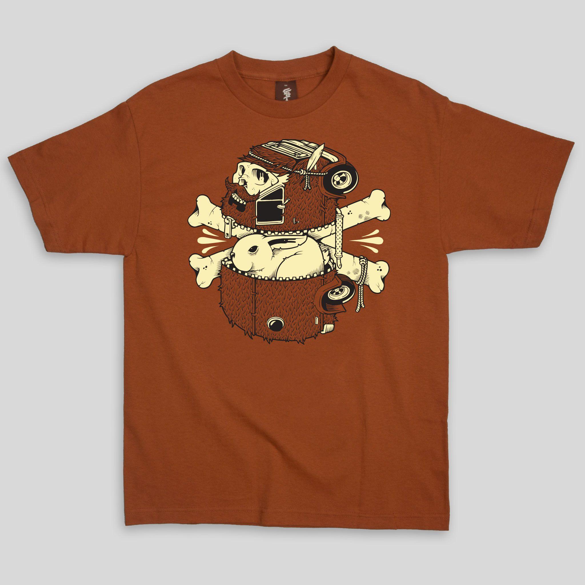 Getaway Beard T-Shirt By Jeremy Fish