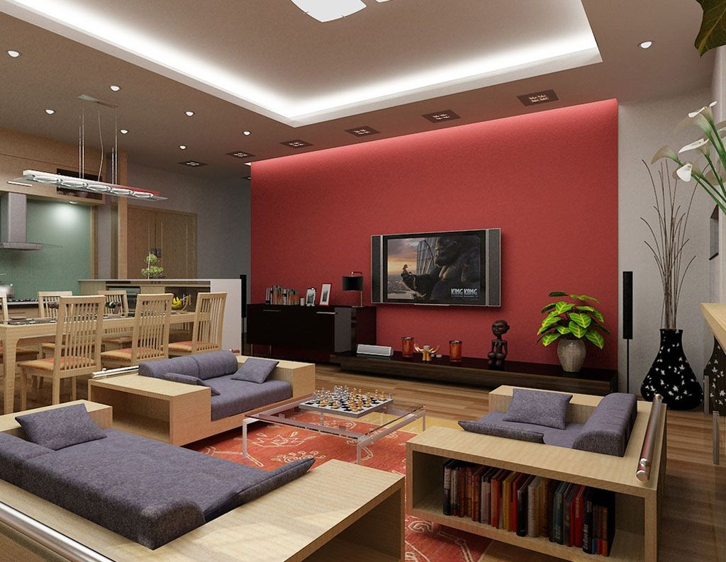 Living Room Design Tv Pleasing Red And Denim Living Room Intended For Red Living Room  Amazing Decorating Design