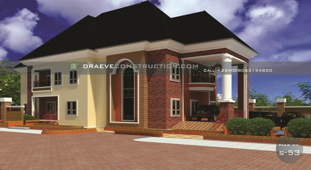 4 Bedroom Stunning Duplex With Security Duplex Imo State Building House Plans Designs Duplex Design Modern Bungalow House