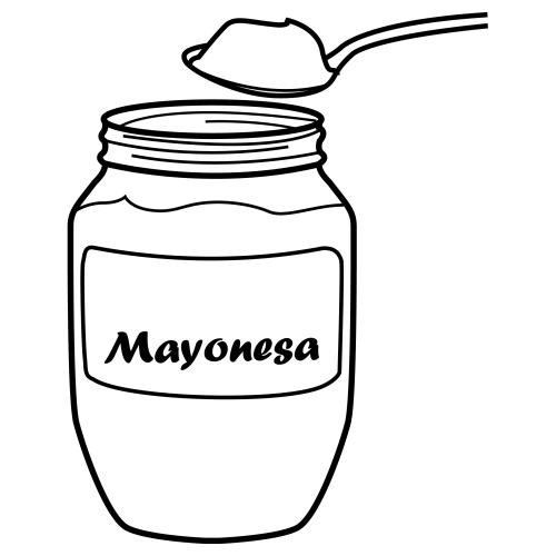Mayonesa Dibujos Alimentos Mayonesa Alimentos Para Colorear Alimentos