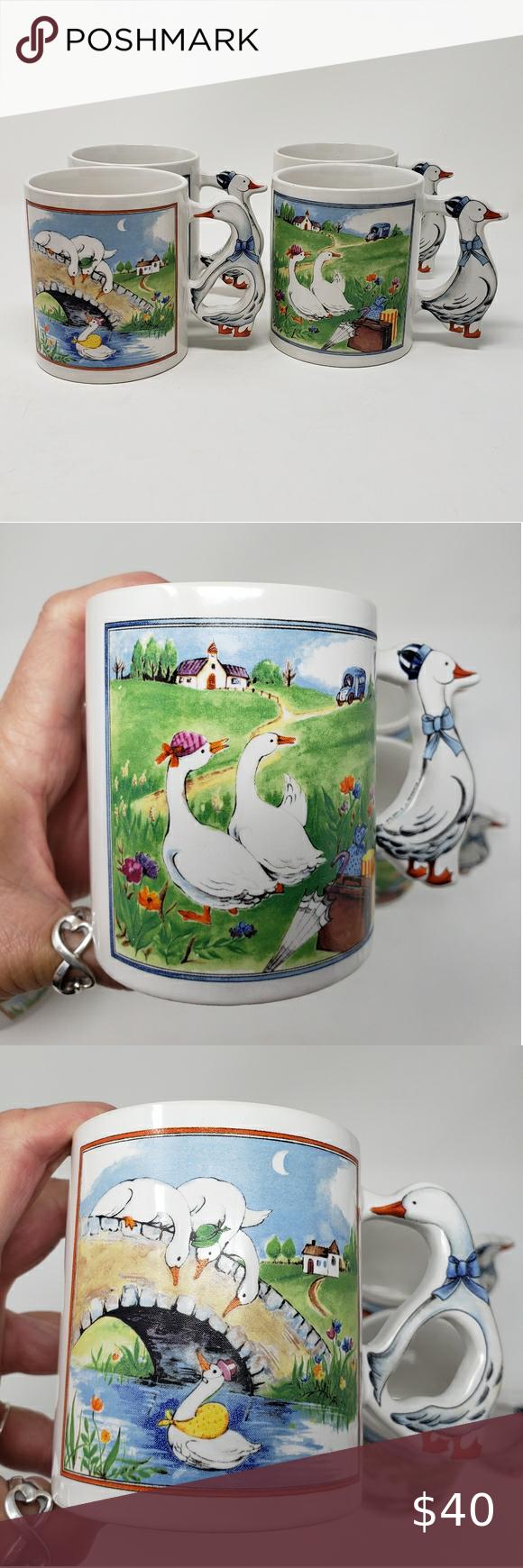 Vintage Geese Mugs