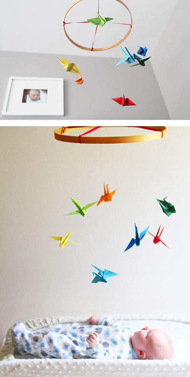 Diy Paper Crane Mobile Paper Crane Mobile Crane Mobile