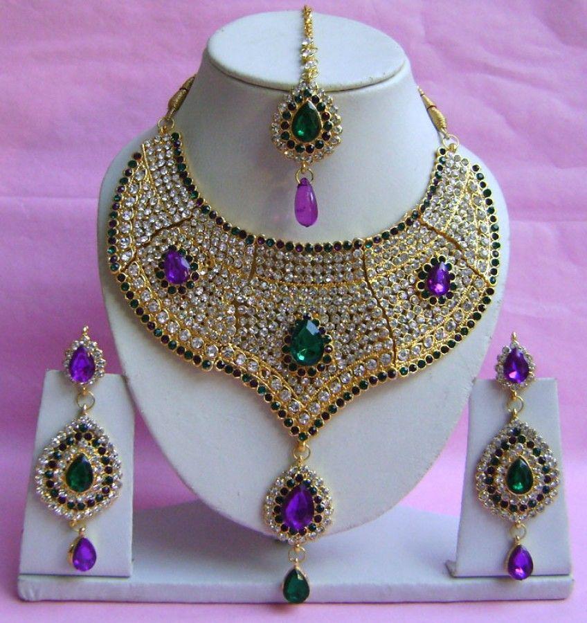 N21795 Choker Artificial Jewellery Necklace Set with Tika   Choker ...
