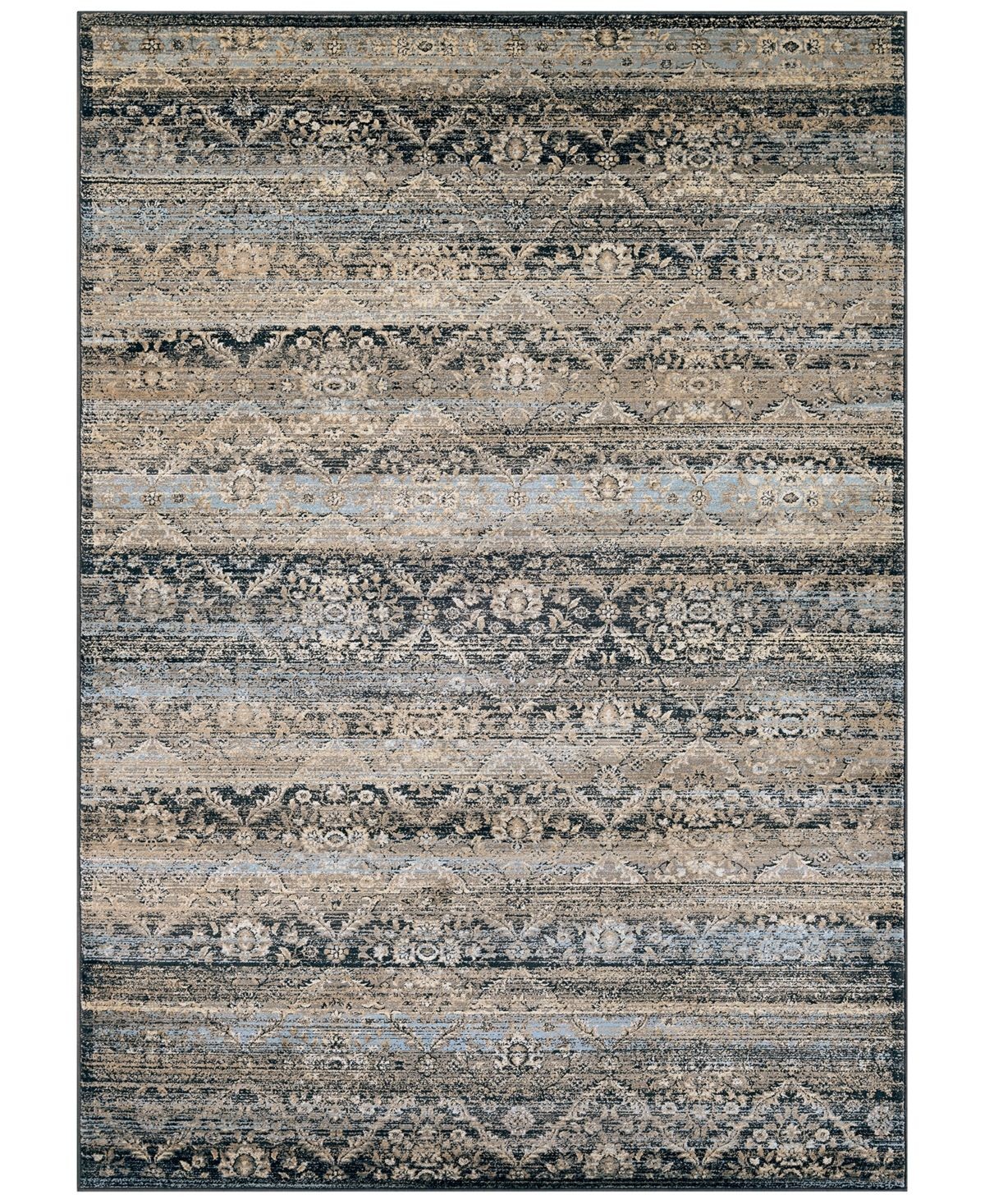 Couristan Closeout Haraz Har466 Blue 7 10 X 11 2 Area Rug Reviews Rugs Macy S Rug Runner Rugs Area Rugs
