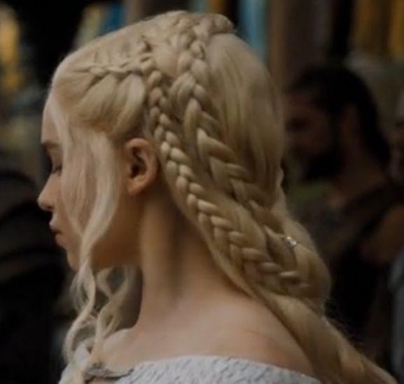 "Wedding Hairstyles Games: Daenerys Targaryen Hairstyle From ""Game Of Thrones"" Season"