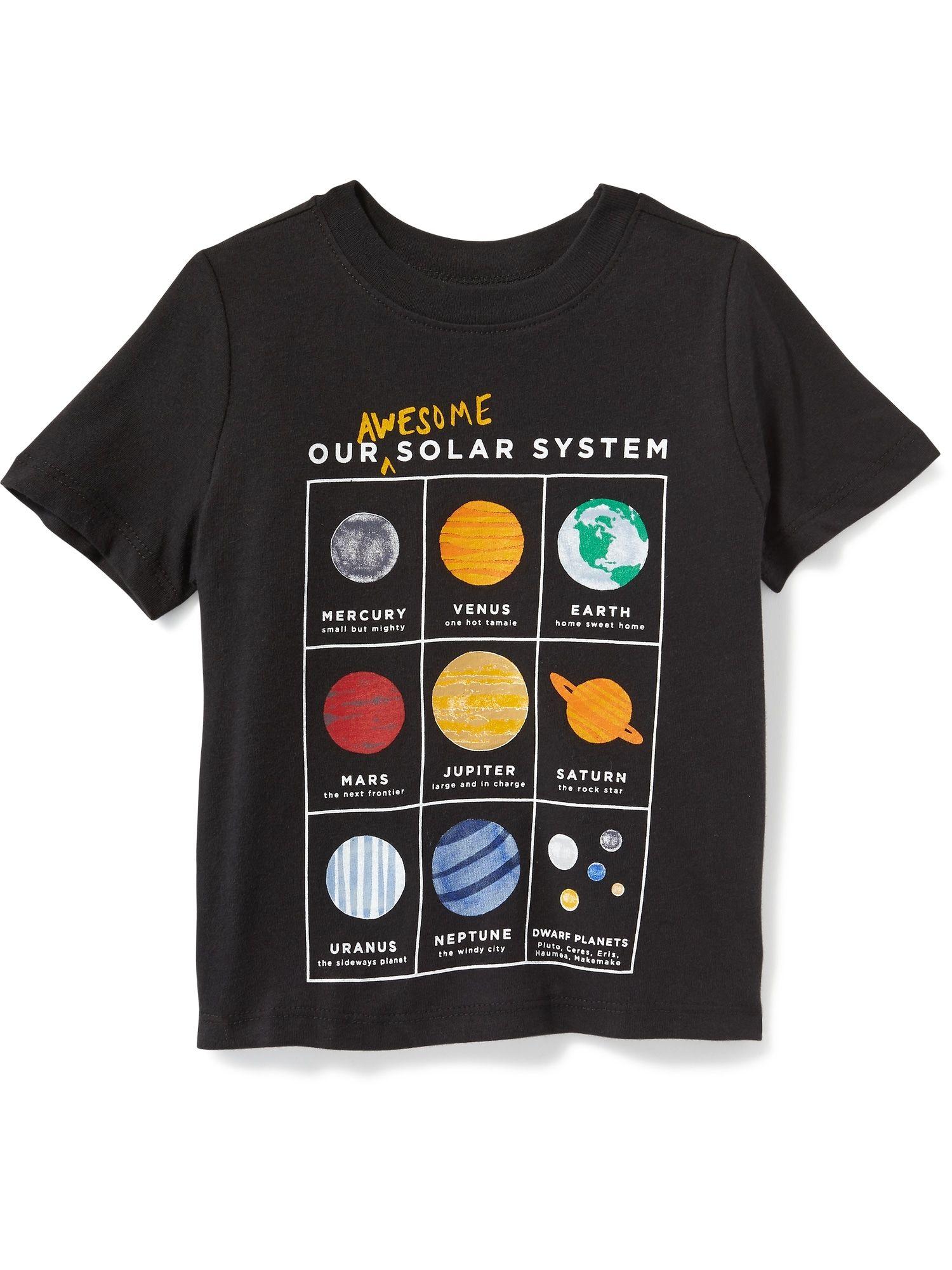 I Love Pluto Planet Black Youth T-Shirt