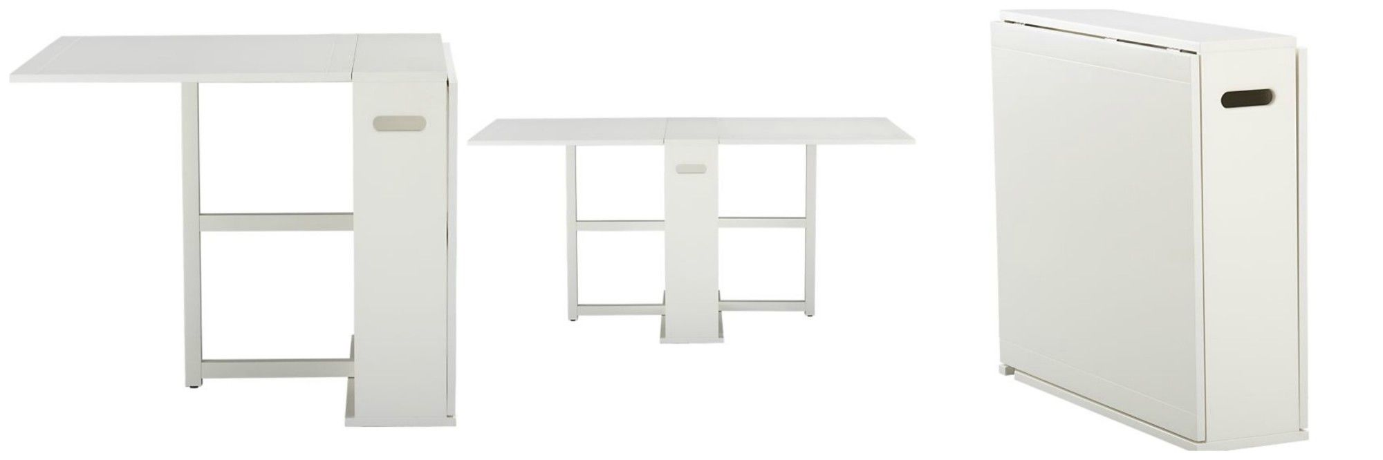 Decor look alikes crate and barrel span gateleg dining table