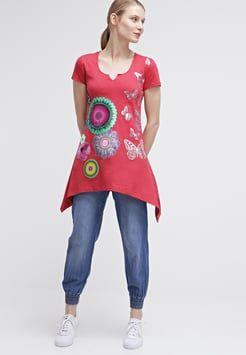 Desigual - KARINE - T-shirt con stampa - fresa