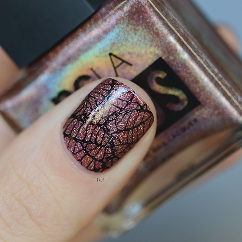The World Orbits Around Me - NCLA (stamping nail art)