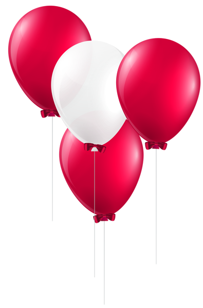 Red And White Balloons Png Clip Art Image Datas Festivas Balao Datas