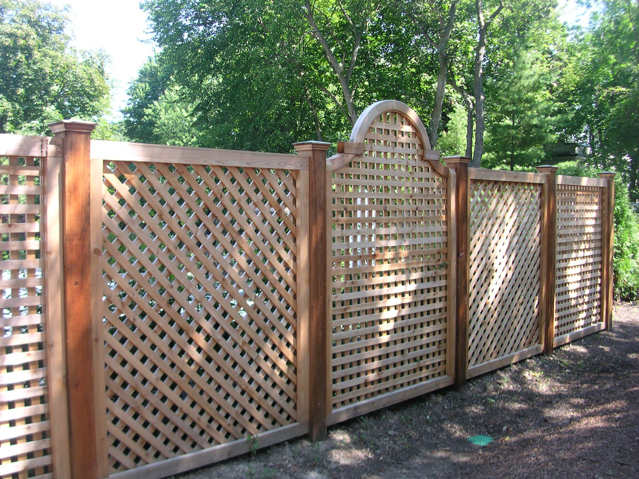 unique wood fence designs