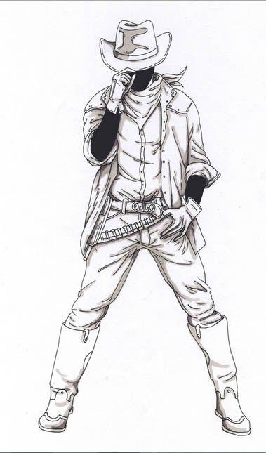 Sketch Of Cowboy Comic Art Sketch Cowboy Draw Drawing Sketches