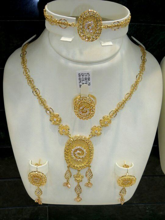 Jewellery Designs And Collections From Saudi Arabia Gold Necklace Designs Gold Jewelry Outfits Pure Gold Jewellery