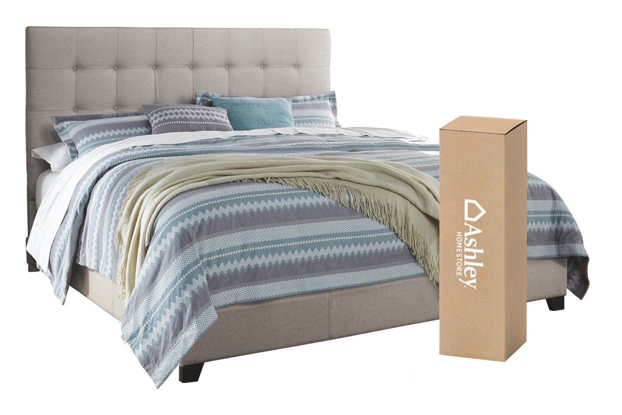 "Dolante Queen Upholstered Bed with 10"" Memory Foam"