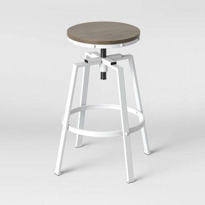 Awe Inspiring Lewiston Adjustable Swivel Barstool White Threshold In Forskolin Free Trial Chair Design Images Forskolin Free Trialorg
