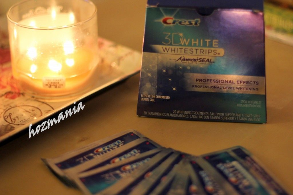 Crest 3d Professional Effects White Strips تجربة Candle Jars White Strips Crest