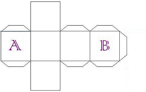 tuto bo te cube boites papier patron cube boite en papier et boite. Black Bedroom Furniture Sets. Home Design Ideas