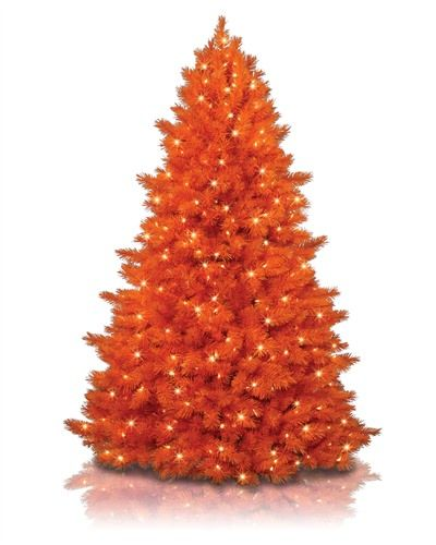 Orange Christmas Tree Orange christmas tree, Christmas tree and