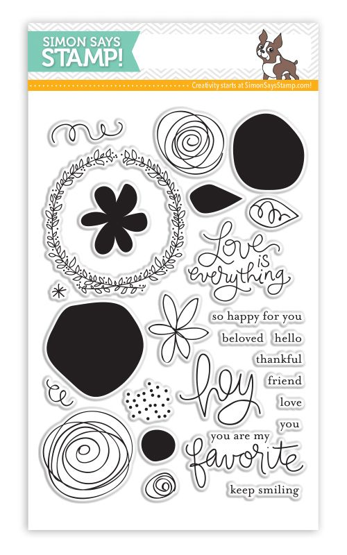 Simon Says Clear Stamps Favorite Flowers Sss101426 Sentiments