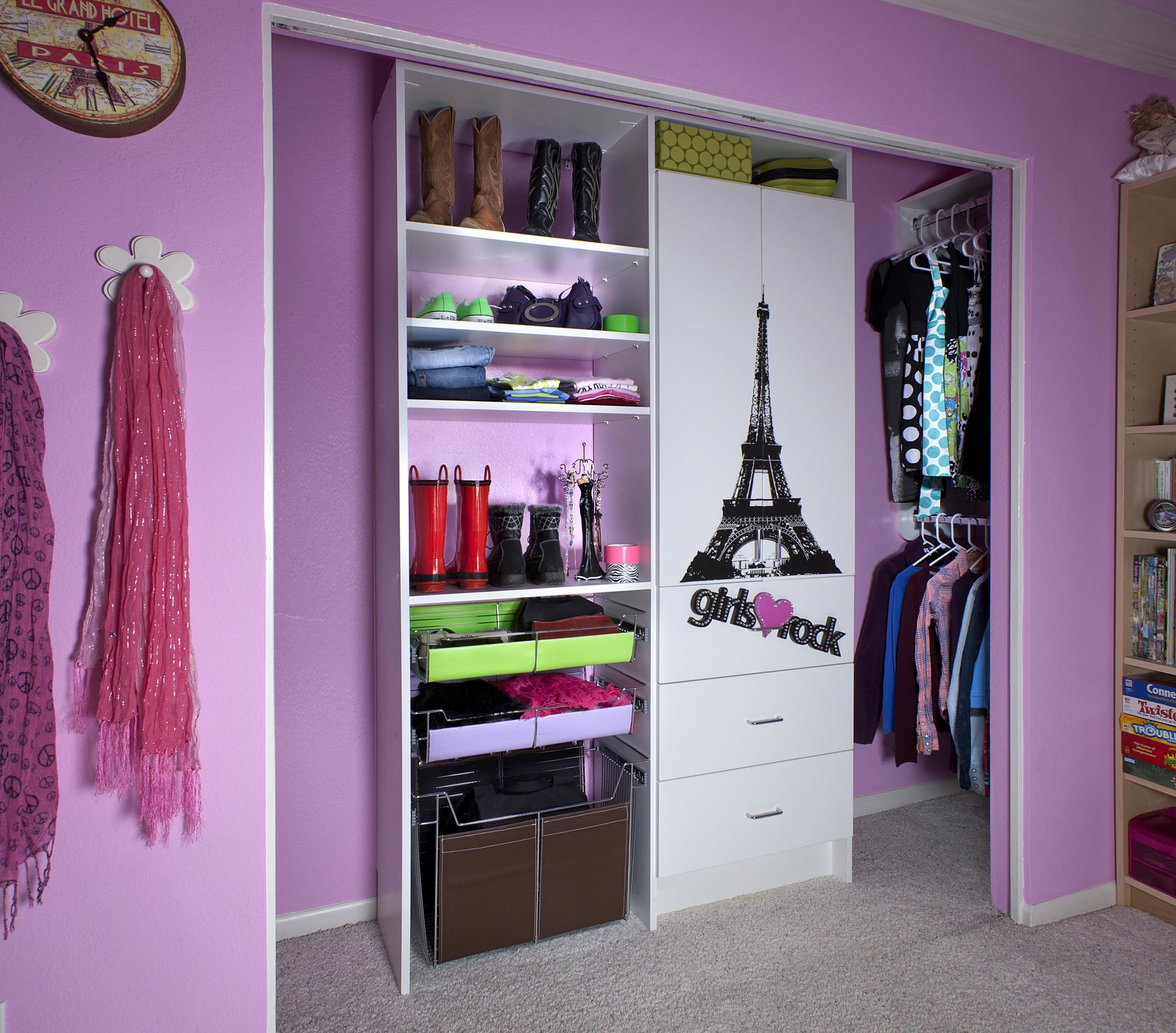 Cabinet Design For Clothes For Girls Create A New Look For Your Room With These Closet Door Ideas