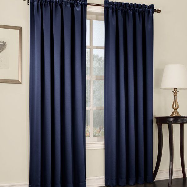 Grover Solid Semi-Sheer Rod Pocket Single Curtain Panel & Reviews ...