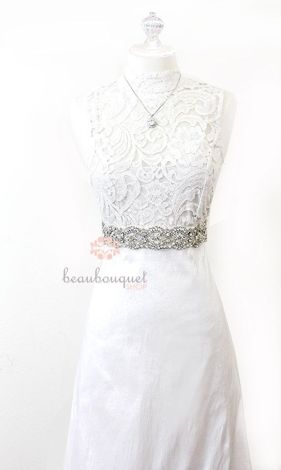 Wedding Sash SWAROVSKI Crystal Rhinestone Belt Bridal Sash Wedding Dress Crystal Rhinestone Bridal Belt. $150.00, via Etsy.