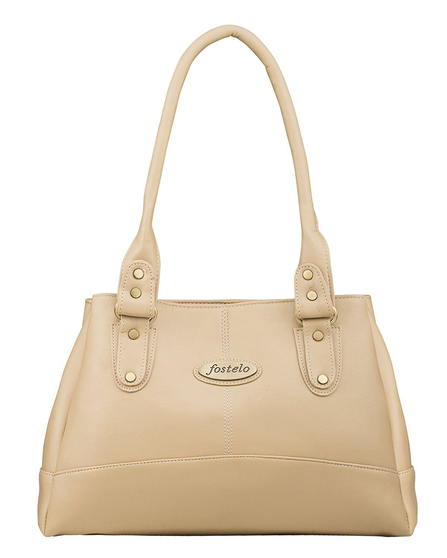 Fostelo Women s Elite Shoulder Bag (Beige) (FSB-737)   purses ... fb1f1fab70